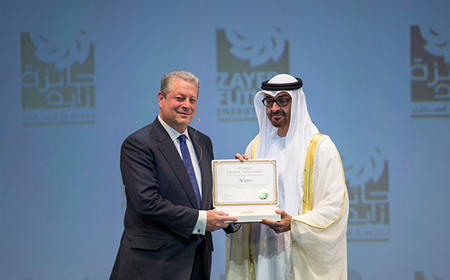 Al Gore Receives Lifetime Achievement Award at Zayed Future Energy Prize 2015